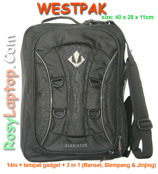 Tas laptop Westpak 3in1 murah (bisa slempang, jinjing dan Ransel